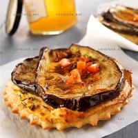 photo recette Mini pizza de brousse et aubergine