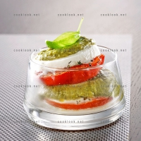 photo recette Tomate mozzarella pesto