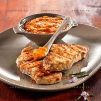 photo recette Longe au barbecue et sauce aux poivrons