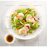 photo recette Lotte en salade aux 3 légumes