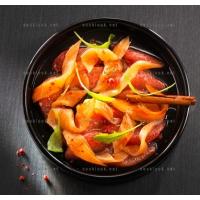 photo recette Salade de saumon et pamplemousses aux épices