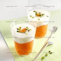 photo recette Compote de kaki et yaourt nature