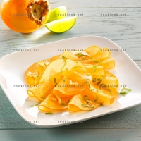 photo recette Kaki en carpaccio