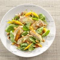 photo recette Salade exotique de poulet à la mangue