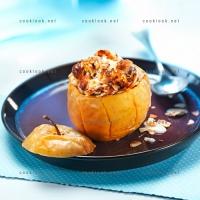 photo recette Pomme rôtie aux amandes