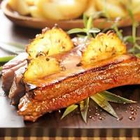 photo recette Travers de porc au miel et à l'ananas