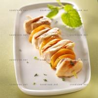 photo recette Brochettes de poulet au citron et à la menthe
