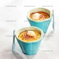 photo recette Crème brulée aux litchis