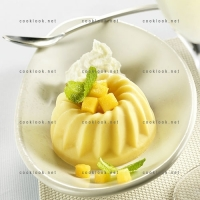 photo recette La mangue en flan