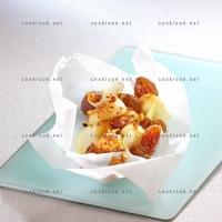 photo recette Marrons, pommes et praliné en papillote