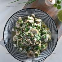 photo recette Salade tiède de cabillaud poché