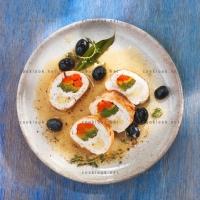 photo recette Rouleaux de dinde aux 3 poivrons