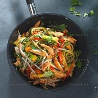 photo recette Poulet sauté aux légumes