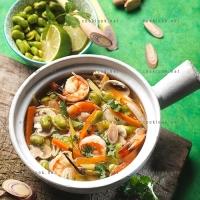 photo recette Soupe de fèves et gambas