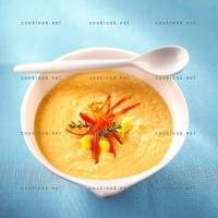 photo recette Cappuccino maïs et poivrons