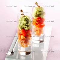 photo recette Saumon et brocolis en verrine