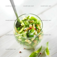 photo recette Verrine de blé verde