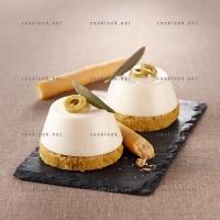 photo recette Panna cotta fromage de brebis et olives verte
