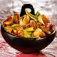 photo recette Pommes de terre poêlées aux piments doux