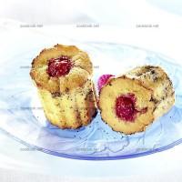 photo recette Mini cakes aux framboises