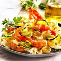 photo recette Farfalle aux courgettes, crevettes et ricotta