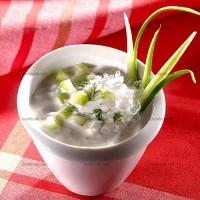 photo recette Potage froid au concombre et yaourt