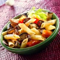 photo recette Pennes cuisinés à la tomate, aux aubergines et aux cèpes