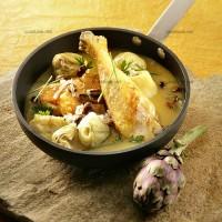 photo recette Cuisses de poulet aux artichauts