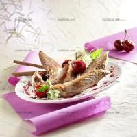 photo recette Magret en aiguillettes aux cerises