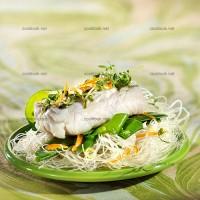 photo recette Cœurs de filets de merlu blanc marinés aux agrumes et thym citro
