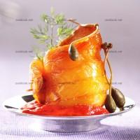 photo recette Haddock au coulis de poivron