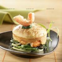 photo recette Clafoutis de langoustines aux feuilles de blettes