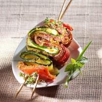 photo recette Brochettes à la grecque