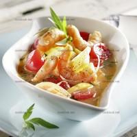 photo recette Nage de crevettes au citron