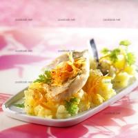 photo recette Pavés de sandre et rattes à l'huile d'olive et à l'orange