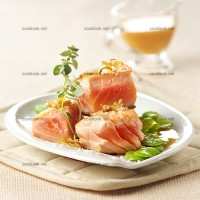 photo recette Saumon et fèves au gingembre