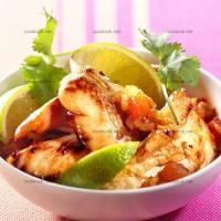 photo recette Sauté de poulet mariné au citron et au miel