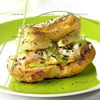photo recette Eclairs aux langoustines et rémoulade de pomme verte