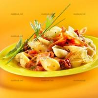 photo recette Conchiglie et pancetta à la tomate