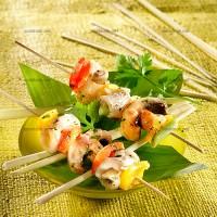 photo recette Eglefin citronnelle en brochettes