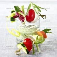 photo recette Brochettes de crudités sauce aux herbes