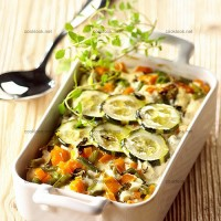 photo recette Dinde et petits légumes en gratin