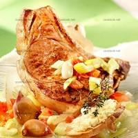 photo recette Côtes de veau à l'ail en papillote