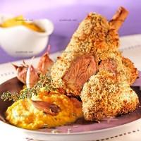 photo recette Souris d'agneau à l'orange en croûte de pain d'épices