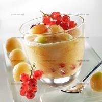photo recette Cocktail de melons et groseilles au miel de lavande