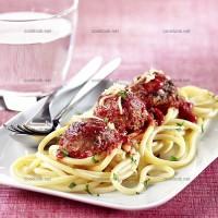 photo recette Boulettes romaines et spaghettis