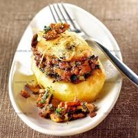 photo recette Pommes de terre farcies aux champignons