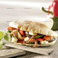 photo recette Pita multicolore aux légumes
