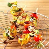 photo recette Brochettes de poulet mariné aux légumes