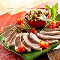 photo recette Rôti de veau, sauce au thon et aux anchois (vitello tonnato)